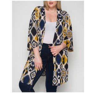 Tops - PLUS SIZE 1X-3X Open Side Slit Kimono